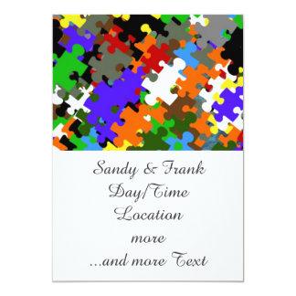 Puzzle Stones 5x7 Paper Invitation Card