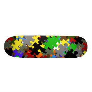 Puzzle Stones Custom Skate Board