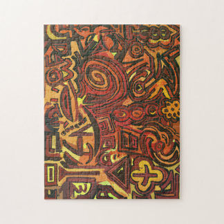 Puzzle Symbols Orange