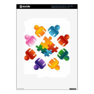 Puzzle Team Decals For iPad 3