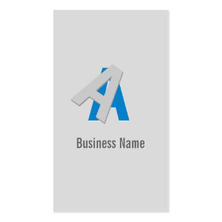 Puzzle Text Stock Broker Business Card