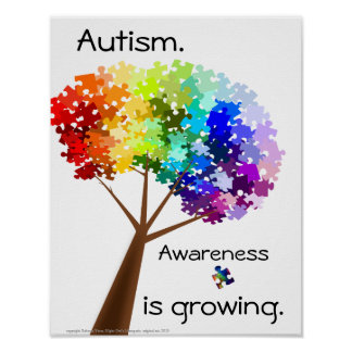 Puzzle Tree Autism Awareness Poster