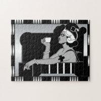 Puzzle Vintage lady Art Deco