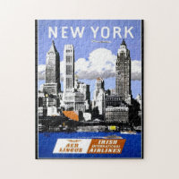 Puzzle Vintage Puzzles Travel New York