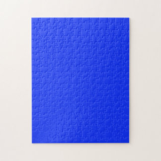 Puzzle with  Bright Neon Blue Background