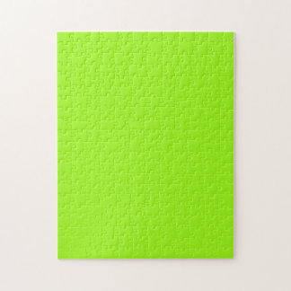 Puzzle with Bright Neon Chartreuse Gree Background