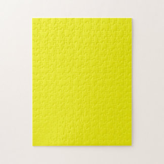 Puzzle with Bright Neon Yellow Background