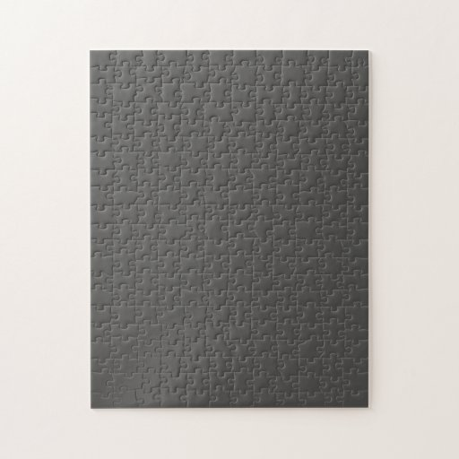 Puzzle with Dark Charcoal Gray Background