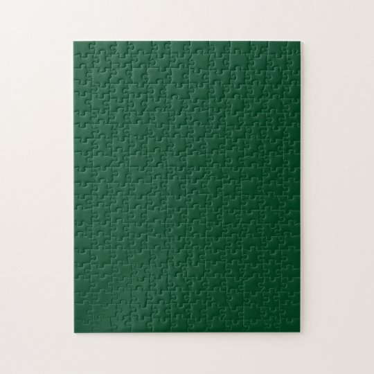 Puzzle with Dark Evergreen Green Background