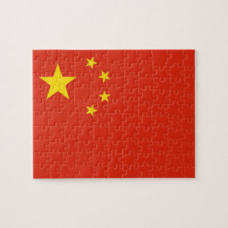 Puzzle with Flag of China