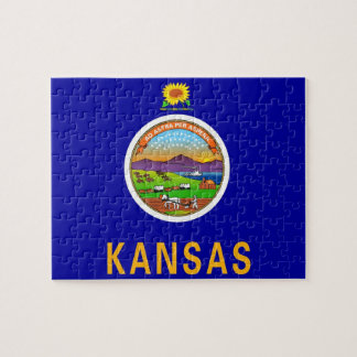 Puzzle with Flag of Kansas State