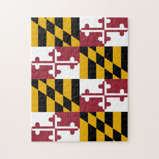 Puzzle with Flag of Maryland State
