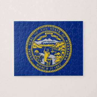 Puzzle with Flag of Nebraska State