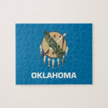 """Puzzle with Flag of Oklahoma State<br><div class=""""desc"""">Awesome educative Puzzle with Flag of Oklahoma. This product its customizable.</div>"""