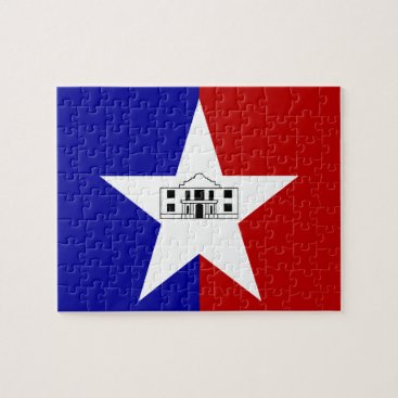 Puzzle with Flag of San Antonio City
