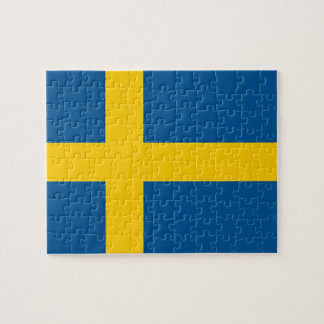 Puzzle with Flag of Sweden