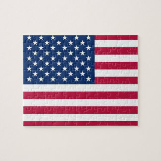 Puzzle with Flag of USA