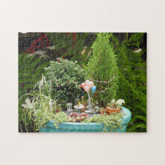 Puzzle with Miniature Birthday Garden