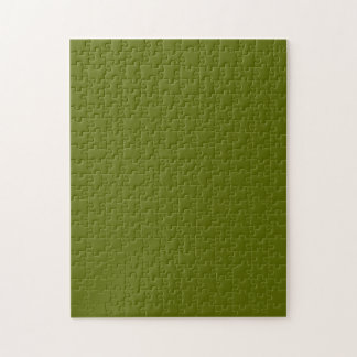 Puzzle with Olive Green Background