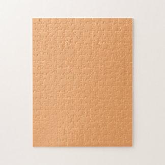 Puzzle with Pastel Orange Background