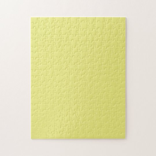 Puzzle with Pastel Yellow Background
