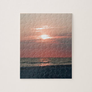 puzzle with photo of beautiful sunset
