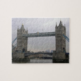 Puzzle with Tower Bridge over the Thames River