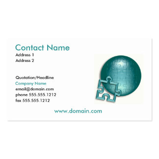 Puzzle World Business Card