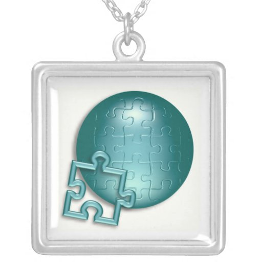 Puzzle World Necklace