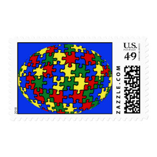 Puzzle World Postage Stamp