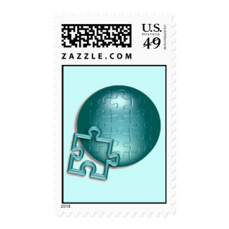 Puzzle World Postage Stamp