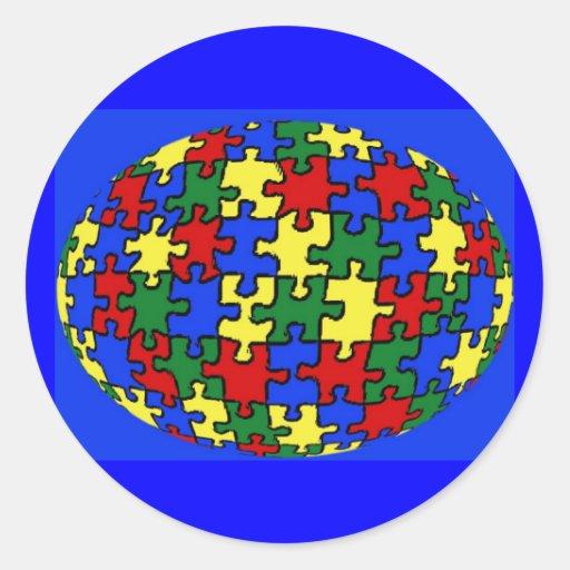 Puzzle World Sticker