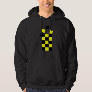 puzzle - yellow and black hooded sweatshirt