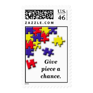 PuzzleCorner Givepiece a chance Stamp
