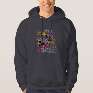 puzzled army hoodie