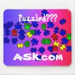 Puzzled???  ASK.com mousepad