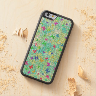 Puzzled Butterflies And Daisies Maple iPhone 6 Bumper Case