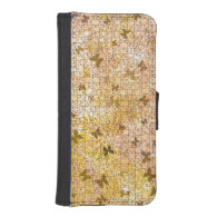Puzzled Butterflies and Daisies iPhone 5 Wallets
