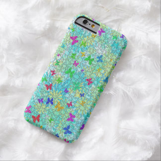 Puzzled Butterflies And Daisies iPhone 6 Case