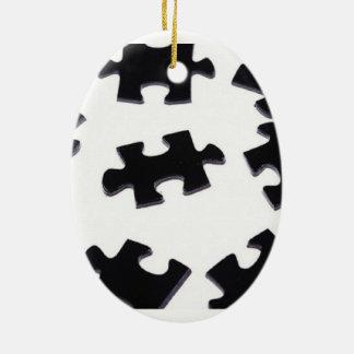 Puzzled Ceramic Ornament