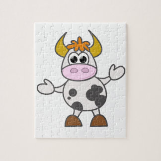 Puzzled Cow Jigsaw Puzzle