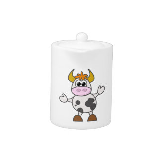 Puzzled Cow Teapot