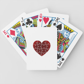 Puzzled Hearts Bicycle Playing Cards