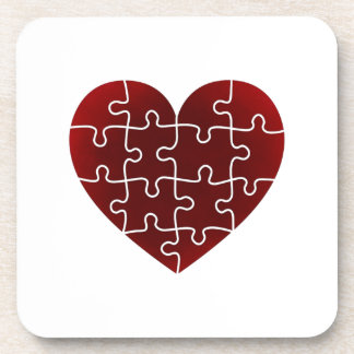 Puzzled Hearts Drink Coasters
