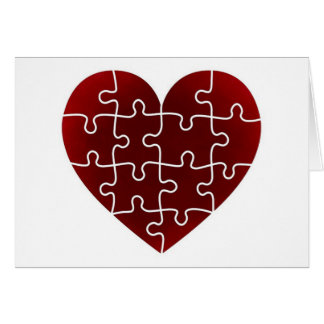 Puzzled Hearts Greeting Card