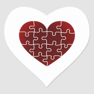 Puzzled Hearts Heart Sticker