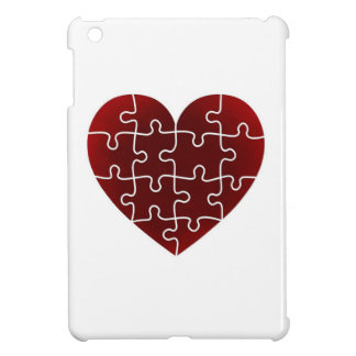 Puzzled Hearts iPad Mini Covers