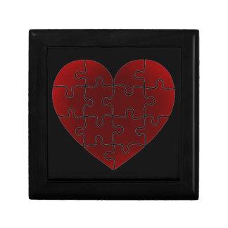 Puzzled Hearts Keepsake Box