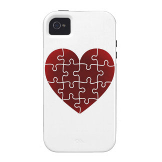 Puzzled Hearts Vibe iPhone 4 Covers