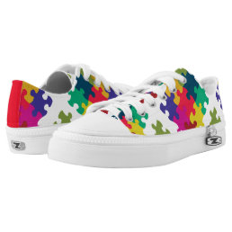 Puzzled Low-Top Sneakers